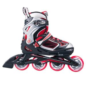 Kolieskové korčule Baud BD261 Farba čierno-červená, Veľkosť M (32-35)