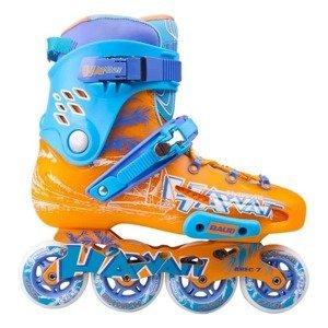 Kolieskové korčule Baud BD276 Farba modro-oranžová, Veľkosť 42