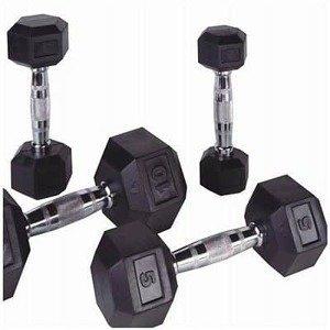Bodysolid Jednoručné činky PROFI HEXA 1 - 50kg 2 x 2 kg 2 x 27,5 kg