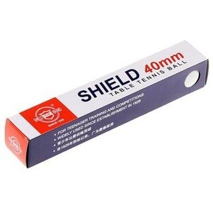 Shield míčky na stolní tenis  bílá Balení: 6 ks
