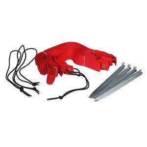lajny beach volejbal Ekonom s ukotvením  šíře 5 cm barva: červená