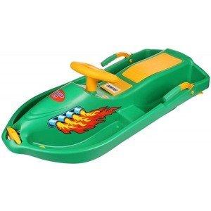 plastové boby Snow Boat 007 řiditelné, s brzdami barva: zelená