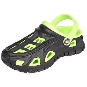 Miami dětské pantofle černá-zelená Velikost (obuv): 26