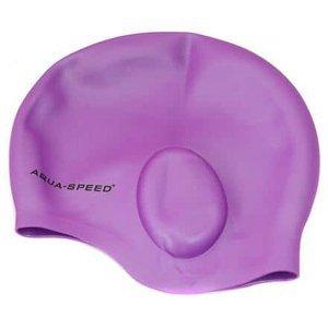 Ear koupací čepice fialová