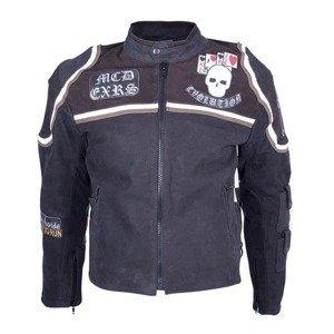 Kožená moto bunda Sodager Micky Rourke Farba čierna s grafikou, Veľkosť XL