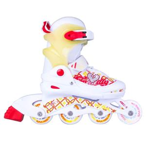 Detské nastaviteľné korčule Action Joly so svietiacimi kolieskami Veľkosť S 30-33