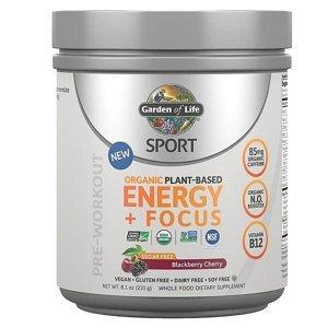 Garden of Life Sport Organic Plant-Based Energy + Focus 231g.