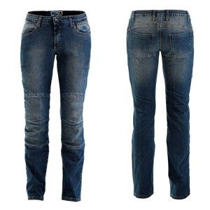 Dámske moto jeansy PMJ Carolina CE Farba modrá, Veľkosť 27