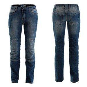Dámske moto jeansy PMJ Carolina CE Farba modrá, Veľkosť 34