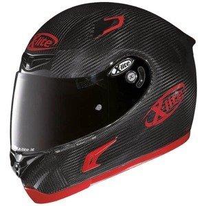 Moto helma X-Lite X-802RR Puro Sport Carbon Farba čierno-červená, Veľkosť XXL (63-64)