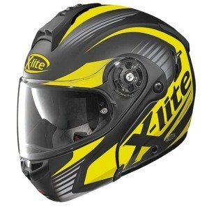 Moto prilba X-Lite X-1004 Nordhelle N-Com Flat Black-Yellow Farba čierno-žltá, Veľkosť XS (53-54)