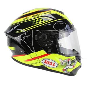 Moto helma BELL Star Isle Of Man black-yellow Farba čierno-žltá, Veľkosť XXL (63-64)