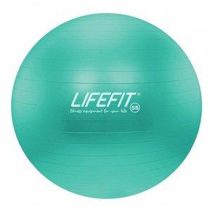 Gymnastický míč LIFEFIT ANTI-BURST 55 cm, tyrkysový