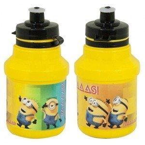 Cyklo fľaša Mimoni Bidon 350 ml žltá s držiakom