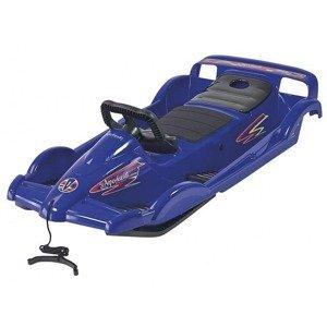 Bob plastový AlpenDoubleRace s volantem, modrý