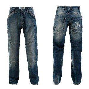 Pánske moto jeansy PMJ Boston Swot Farba modrá, Veľkosť 34