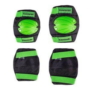 Súprava detských chráničov Kawasaki Purotek Farba zelená, Veľkosť M