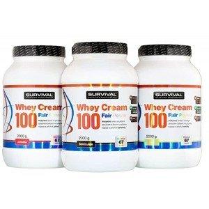 Whey Cream 100 Fair Power jahoda 1000g