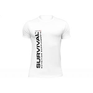 Triko Survival pánské (krátký rukáv) - bílé  Bílá -XL