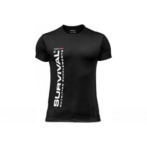 Tričko Survival pánske (krátky rukáv) - čierne bílá-XXL