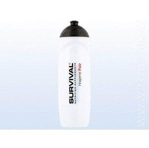 Športová fľaša Bidon Survival Transparent 750ml