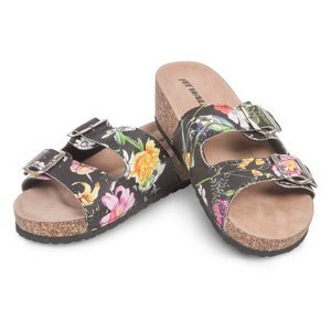 Dámské korkové pantofle květiny