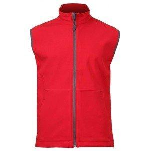 Vision pánská softshellová vesta barva: červená;velikost oblečení: XL