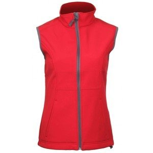 Vision dámská softshellová vesta barva: červená;velikost oblečení: S