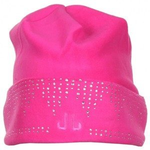Stretch Shiny Beanie dámská zimní čepice barva: růžová