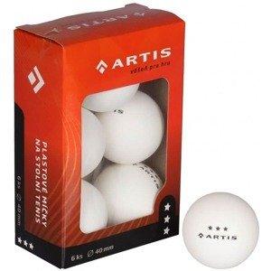 Artis 3 hvězdy míčky na stolní tenis barva: bílá;balení: 6 ks