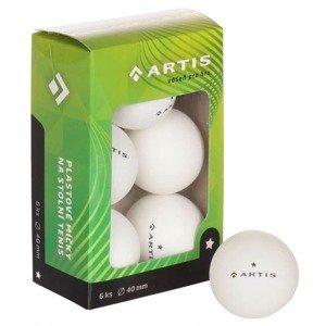 Artis 1 hvězda míčky na stolní tenis bílá Balení: 6 ks