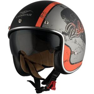 Moto prilba Vemar Chopper Rebel Farba čierna matná/zelená/krémová, Veľkosť XS (53-54)