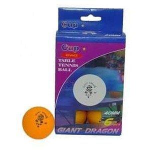 MÍČKY PI PO GIANT DRAGON CUP 1-STAR bílé plast - Bílé - 40 mm