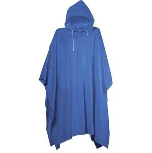 Pláštěnka PONCHO PVC silná - Modrá
