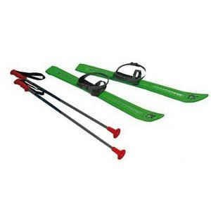 Lyže kluzky hole s vázáním délka 70 cm - zelená