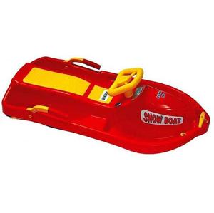 Boby řiditelné Snow Boat PLASTKON 93 x 44 x 35 cm - Červená