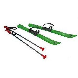 Lyže kluzky s holemi a vázáním Plastkon 90 cm - zelené
