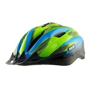 Dětská cyklo helma SULOV JR-RACE-B, modro-zelená Helma velikost: S