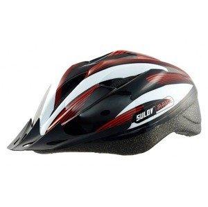 Dětská cyklo helma SULOV JR-RACE-B, černo-bílá Helma velikost: M