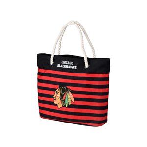 Forever Collectibles Nautical Stripe Tote Bag Nhl Chicago Blackhawks