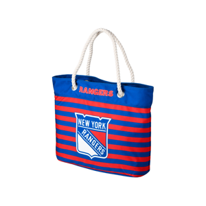 Forever Collectibles Nautical Stripe Tote Bag Nhl New York Rangers
