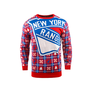 Vianočný Sveter Forever Collectibles Busy Block Ugly Nhl New York Rangers