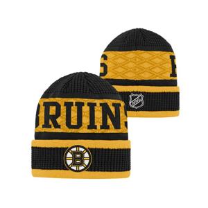 Detská Zimná Čiapka Outerstuff Puck Pattern Cuffed Knit Nhl Boston Bruins
