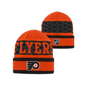 Detská Zimná Čiapka Outerstuff Puck Pattern Cuffed Knit Nhl Philadelphia Flyers