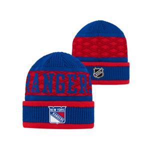 Detská Zimná Čiapka Outerstuff Puck Pattern Cuffed Knit Nhl New York Rangers