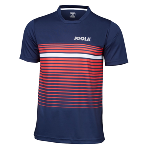 Joola T-Shirt Stripes Navy/Red