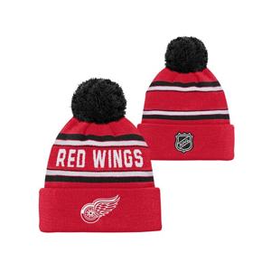Detská Zimná Čiapka Outerstuff Jacquard Cuffed Knit With Pom Nhl Detroit Red Wings