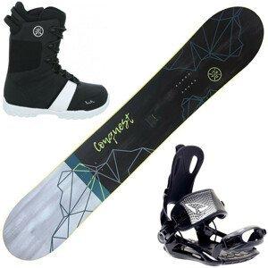 Snowboardový set STUF Conquest Rocker s viazaním SP Fastec + topánky