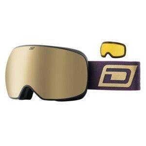 Lyžiarske okuliare DIRTY DOG Mutant Prophecy Brown/Gold Hnedá