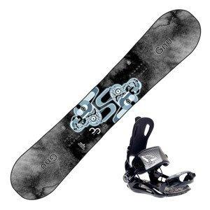 Snowboardový set GNU Carbon Credit s viazaním SP Fastec FT270